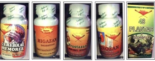 El Ministerio de Salud envió fotos de los productos decomisados por no contar con el registro para su venta. | ARCHIVO.