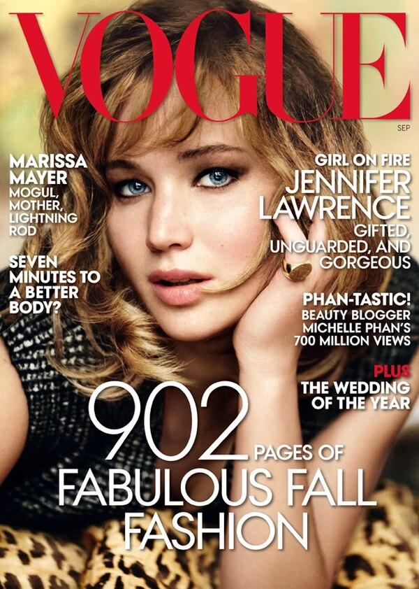 Jennifer Lawrence, de 22 años, abrió su corazón en una entrevista que dio a la revista Vogue. Ella será la portada de de setiembre de esa publicación. Foto: AP