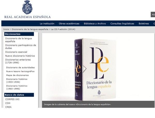 La Real Academia Española actualizó su contenido este jueves.