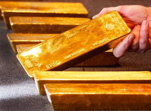 Varias barras de oro en la sede del Bundesbank. en Frankfurt, Alemania. Foto con fines ilustrativos