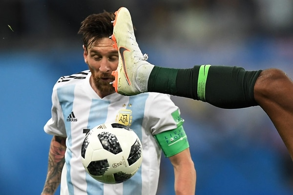 Messi anotó su primer gol en Rusia 2018. Fotografía: AFP.