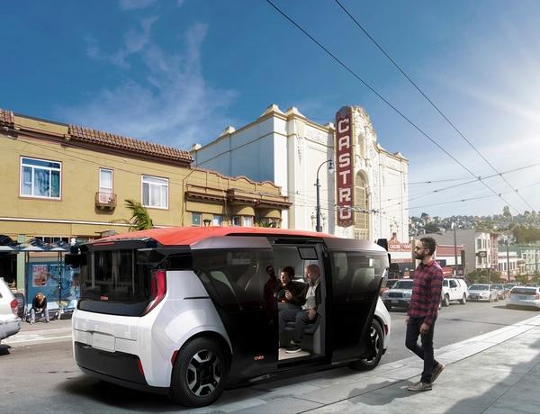 Es un vehículo diseñado para el transporte compartido, pero no se ofrecieron detalles sobre su fecha de comercialización ni su precio. AFP PHOTO /CRUISE COMMUNICATIONS/DANIEL VINE GARCIA/HANDOUT