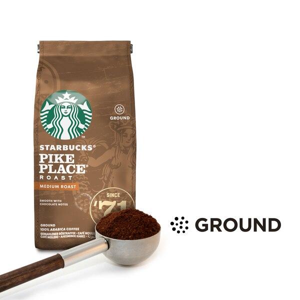 El café de la marca Starbucks ya está a la venta en los supermercados Walmart y Másxmenos de Costa Rica, molido y empacado, distribuido por Nestlé. Se ofrece en presentaciones de 250 gramos, en varios tipos y orígenes. Foto: Cortesía de Nestlé.