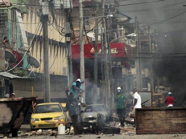 Vista de los disturbios ocurridos en días pasados en la provincia Colon. | AFP.