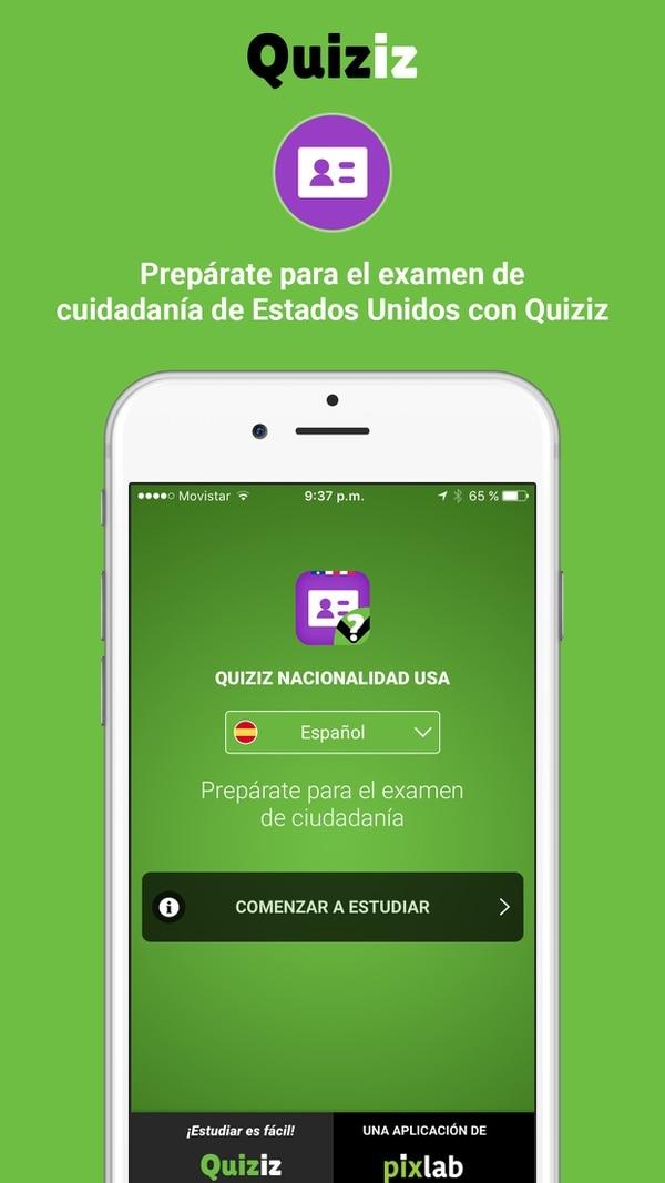 La aplicación Quiziz ahora permite prepararse para el examen de ciudadanía de Estados Unidos.