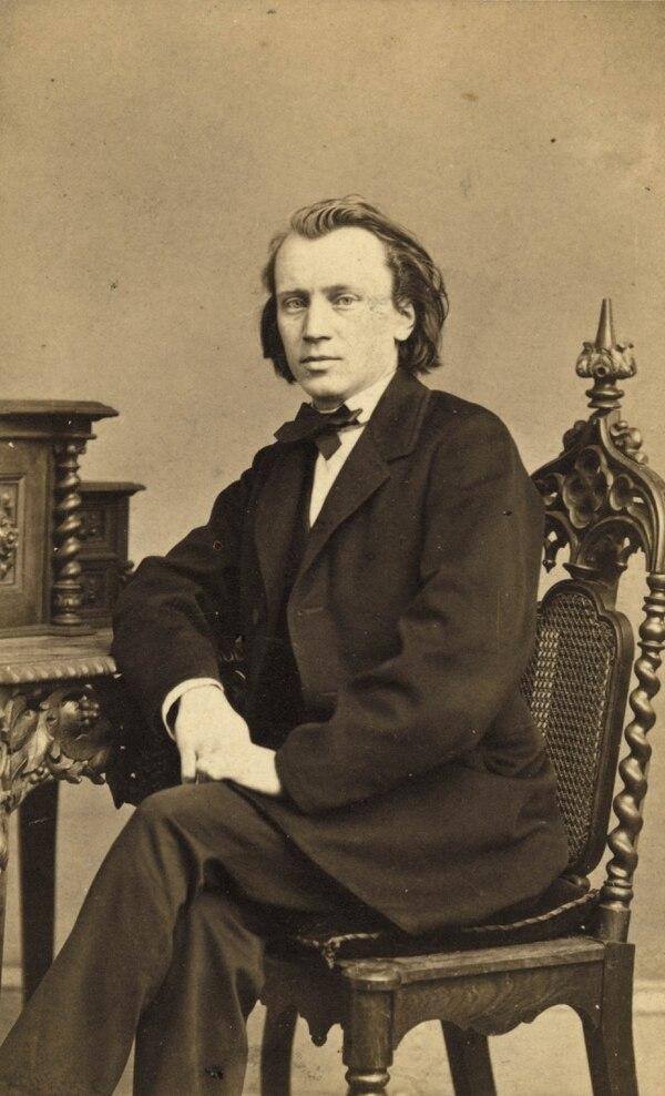Una imagen de Brahms a los 29 años en Hamburgo. Foto: Wikimedia Commons.