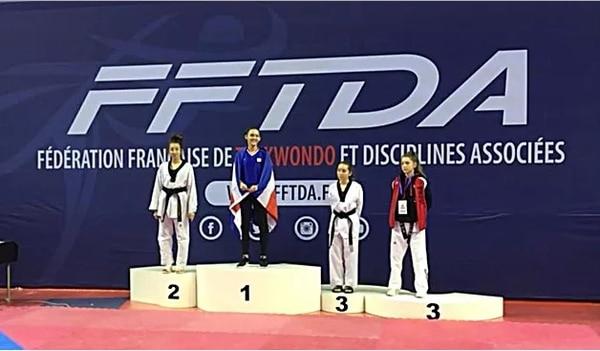 María José Rodríguez conquistó la medalla de oro en el Open de Francia 2018. Fotografía: www.tkdcrc.org
