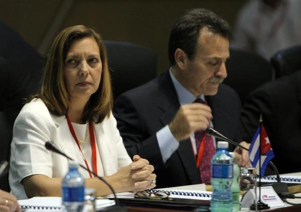 La directora para EE. UU. del Ministerio de Exteriores de Cuba, Josefina Vidal, en una reunión en el Palacio de Convenciones. | EFE