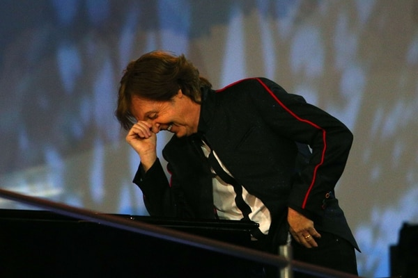"""Como ver un cometa. El crítico de música Alfredo Chino Moreno de 94.7 FM, comparó esta presentación del ex-Beatle como ver un cometa o un eclipse total de Sol. """"O lo ves es ahora o nunca"""", dijo. Archivo."""