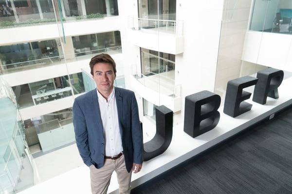 Andrés Echandi, gerente general para América Central, afirma que la consolidación de Uber se debe al apoyo que se le brinda a los clientes para que continúen utilizando la plataforma.Fotografía: Cristina Solís Cabrera.
