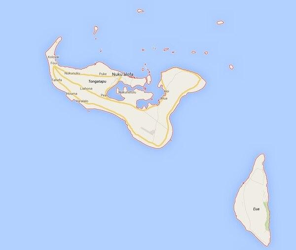 Movimiento se registró en las aguas del Pacífico al este del archipiélago de las islas Tonga.