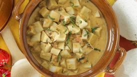 Picadillo de malanga con salsa caribeña