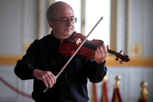 28/05/2021 Teatro Nacional. Ultimo concierto del concertino, José Aurelio Castillo Pereira, de 62 años, con la Orquesta Sinfónica Nacional. Foto: Rafael Pacheco