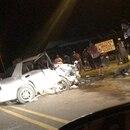 Automóvil Hyundai Elantra en el que viajaban cuatro personas. Foto suministrada por Alfonso Quesada