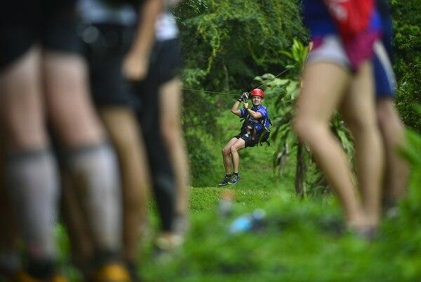 Cerca del río Sarapiquí los deportistas nacionales se prepararon para el Mundial de Aventura.
