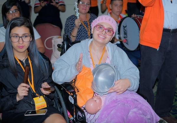Kristen González Villareal, vecina de San José, participó de la actividad. Foto: Proyecto Daniel para LN.