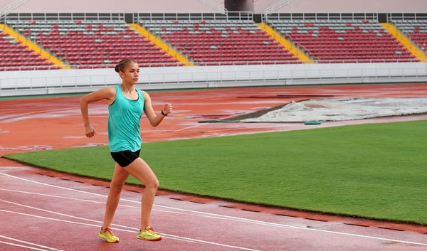 Noelia Vargas competirá en Nueva York, Estados Unidos, por primera vez en los 20 kilómetros marcha, el próximo 21 de octubre. Para clasificar a los Juegos Olímpicos de Tokio 2020 la marca del evento es de de 1 hora y 36 minutos. Fotografía: Graciela Solís