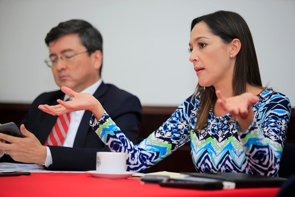 Asamblea Legislativa. Los diputados socialcristianos, María Inés Solís y Pedro Muñoz. Foto: Rafael Pacheco