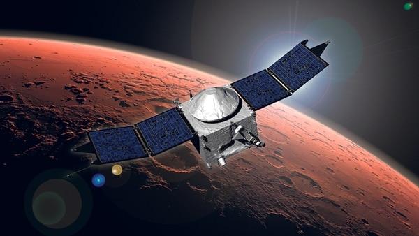 La sonda MAVEN fue lanzada en noviembre del 2013 desde Cabo Cañaveral, Florida, y tras un viaje de 10 meses se insertó con éxito en la órbita del Planeta Rojo, el pasado 21 de setiembre. | NASA PARA LN.