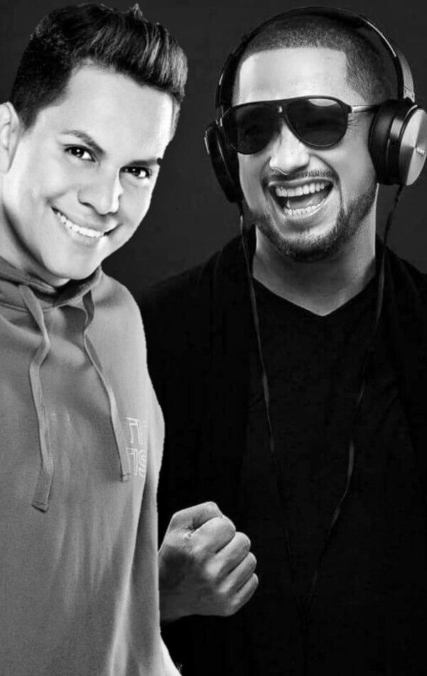 Los músicos Jonathan Luna y Allan Zero desarrollaron una amistad artística, ahora comparten una divertida aventura con la canción 'La Culpa'. Foto: Cortesía Alejandra Giusti.