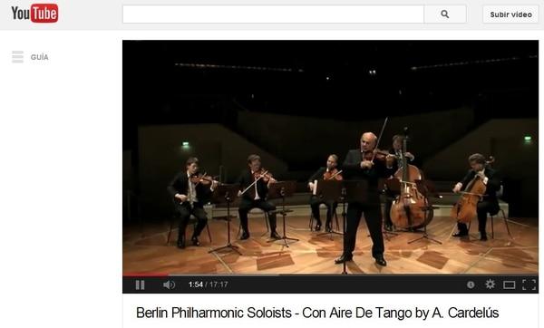 Esta una composición que le encargó el primer violín de la Filarmónica de Berlín, Laurentius Dinca, al compositor y pianista madrileño Arturo Cardelús (1981).
