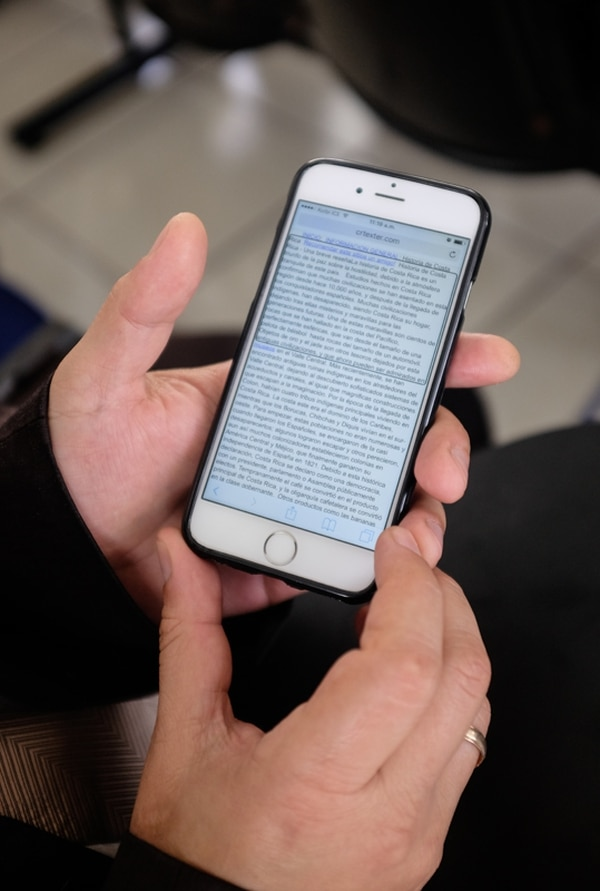 Por el momento, CR Texter está disponible para computadoras. En la segunda etapa se desarrollará para dispositivos móvles. | GABRIELA TELLEZ.
