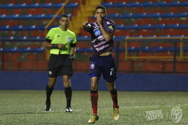 Rashid Chirino fue el encargado de anotar el gol de la victoria de San Carlos sobre Santos. Fotografía: Prensa San Carlos