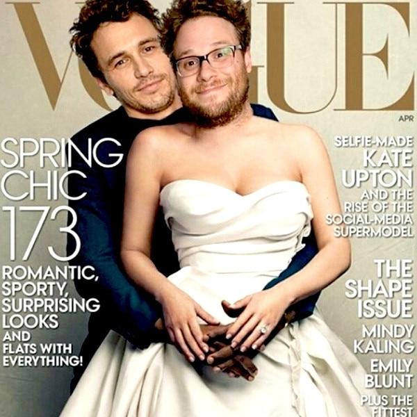 James Franco y Seth Roguen hacen mofa de la imagen. Foto: Twitter