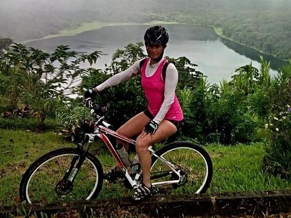 Lucía Mata, ciclista fallecida en accidente en enero de 2017 en Curridabat. Foto cortesía.