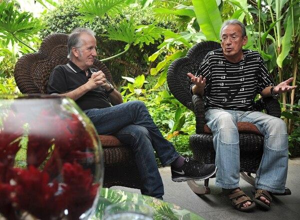Pancho Varona (izquierda) y Antonio García de Diego llevan años con este 'show'. En el 2013 lo llevaron a México y Argentina. | GESLINE ANRANGO.