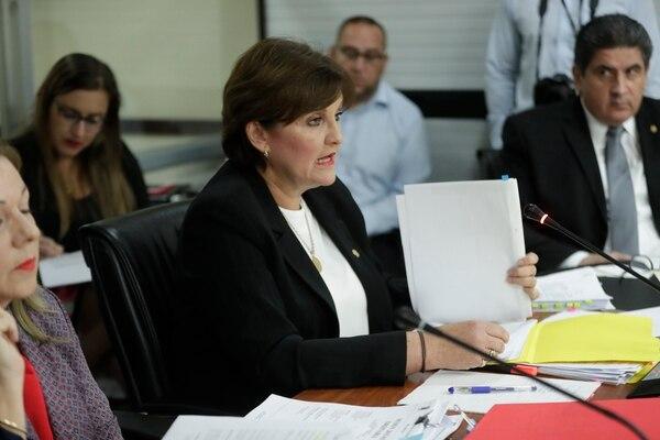 Jerarca afirma que fue la primera en denunciar el desorden que encontró en la institución al asumir como ministra de Niñez y Adolescencia, en mayo de 2018. Fotografía José Cordero
