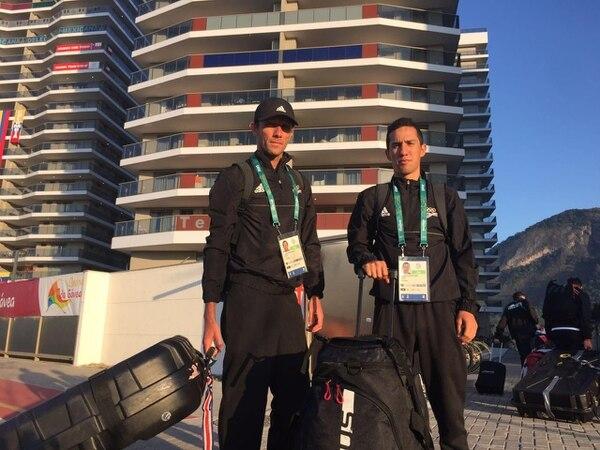 Leonardo Chacón y Andrey Fonseca están en Río de Janeiro desde el domingo.