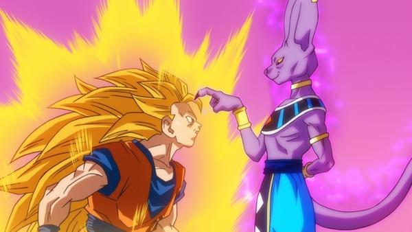 Gokú y sus amigos deberán enfrentarse al dios Bills para salvar a la tierra de su destrucción en la película Dragon Ball Z: La batalla de los dioses. | AP