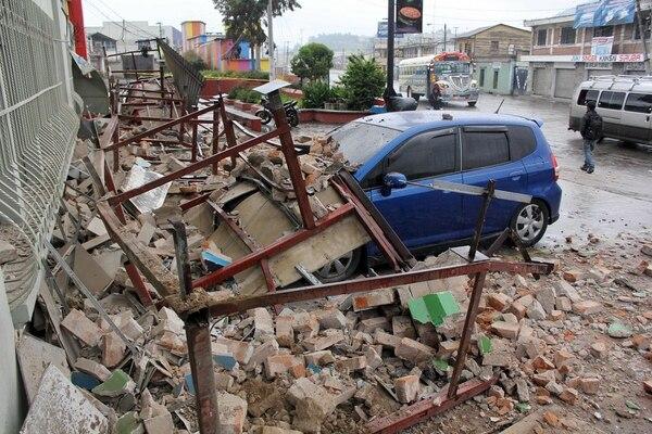 En la ciudad de Quetzaltenango hubo algunos daños como consecuencia del sismo.