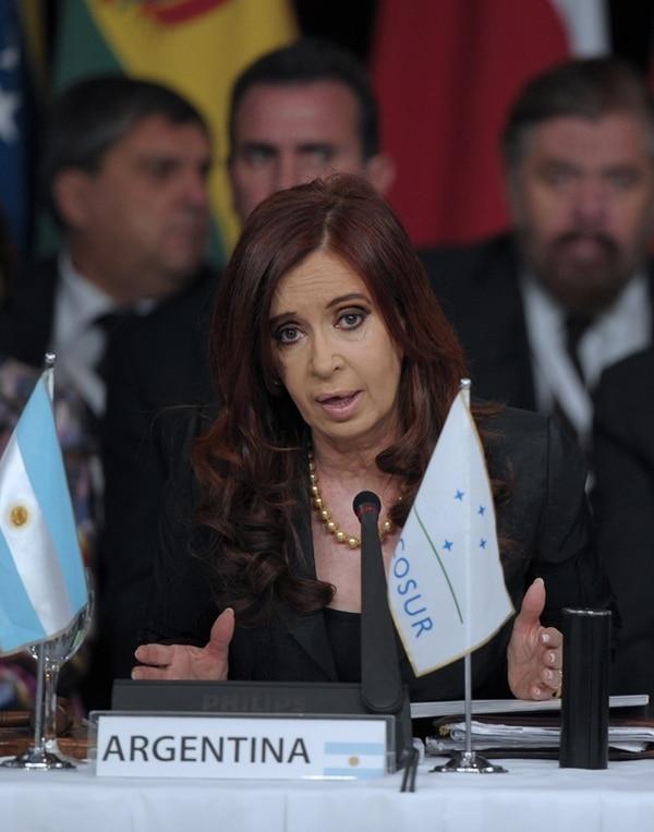 Fernández en una cumbre en su país, en junio del 2012. | ARCHIVO.