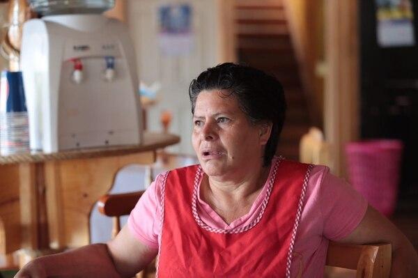 Mayela Céspedes, una de las vecinas del volcán Poás.