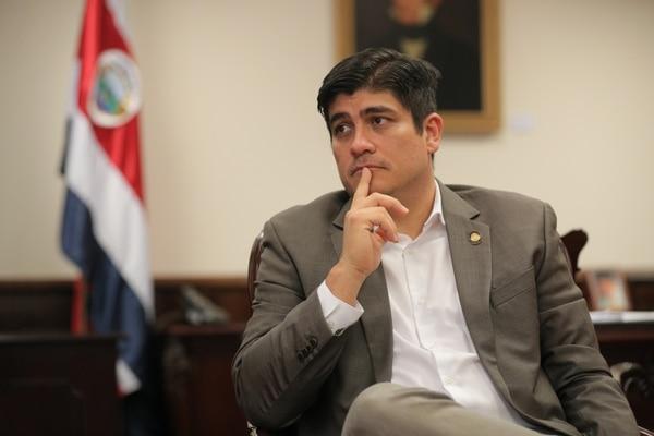 El presidente de la Republica, Carlos Alvarado, concedió una entrevista a La Nación, a 25 días de haber asumido el cargo. Foto: Jeffrey Zamora