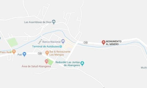 El incendio se presentó en las cercanías del monumento al Minero en Las Juntas de Abangares, Guanacaste.