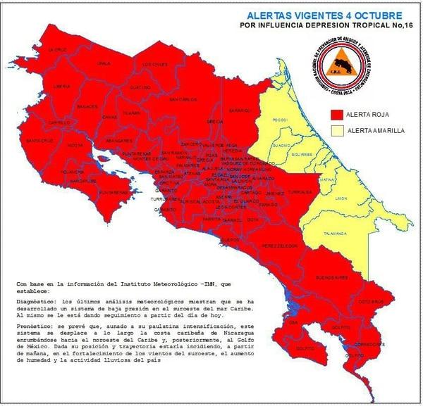 Mapa de alertas.