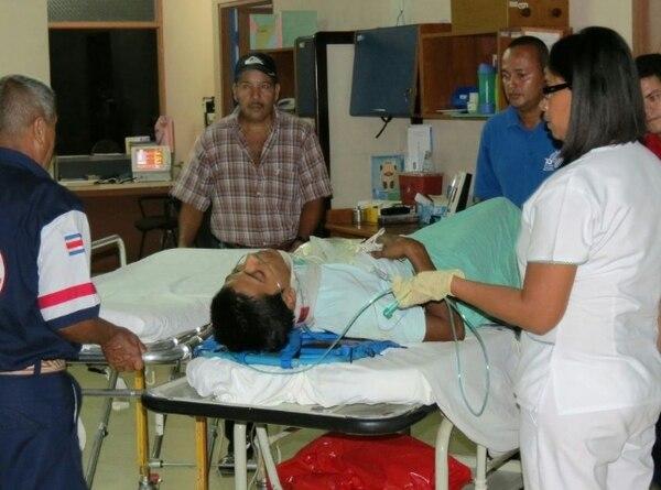 Los dos hombres heridos fueron trasladados al hospital de San Carlos | EDGAR CHINCHILLA