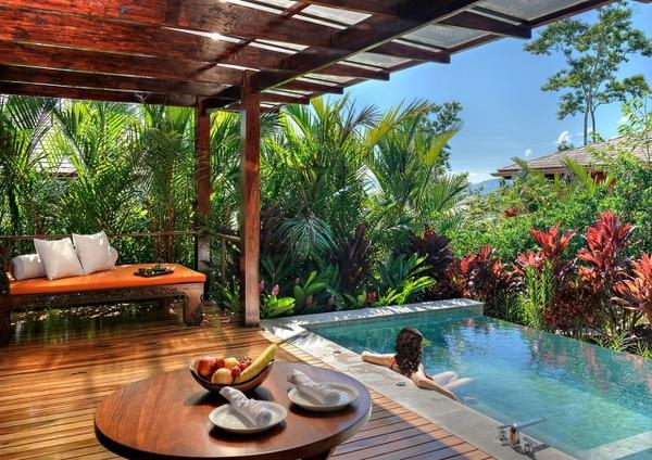 Cada habitación Springs Villa tiene una piscina privada. Es de agua termal volcánica. Foto: cortesía Nayara Springs
