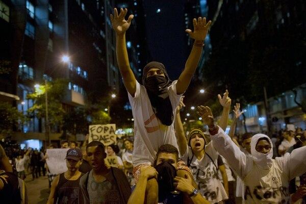 Sao Paulo, la ciudad más poblada de Brasil, fue el germen de las protestas, que ya se extendieron a Río de Janeiro, Brasilia, Fortaleza, Salvador y otras ciudades. @AP.