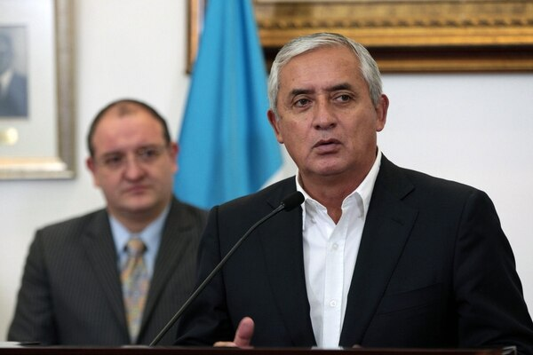 El presidente guatemalteco Otto Pérez Molina presentó a quienes conformarán la nueva comisión guatemalteca para la lucha antidrogas