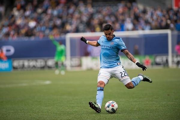 Rónald Matarrita dio la asistencia del segundo gol del New York City.