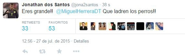 Jonathan Dos Santos escribió pero también borró el comentario.