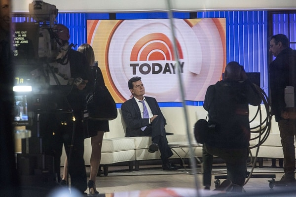 El actor Charlie Sheen confesó en entrevista con el programa matutino Today Show de NBC, que es portador del virus VIH