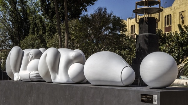 'Fuerza ancestral' es una de las Génesis del escultor. Foto: Tommaso Malfanti para LN.