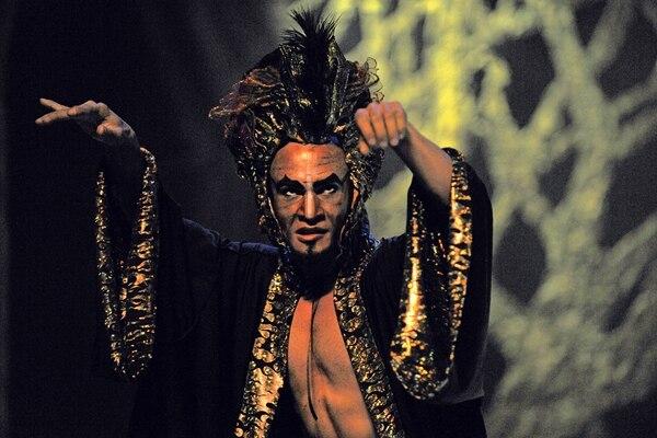 Mario Vircha interpreta a Koschéi, el mago malvado. Rafael Murillo.