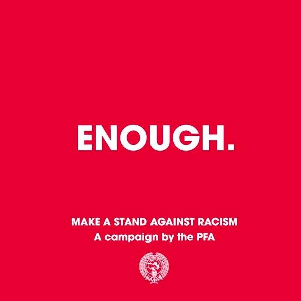 Enough el el tema de la campaña. Imagen tomada de Twitter