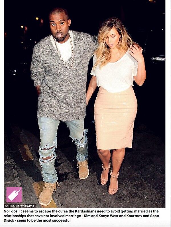 Kim Kardashian se casó con el rapero Kanye West en el 2014, un año después de su divorcio con Kris Humphries.